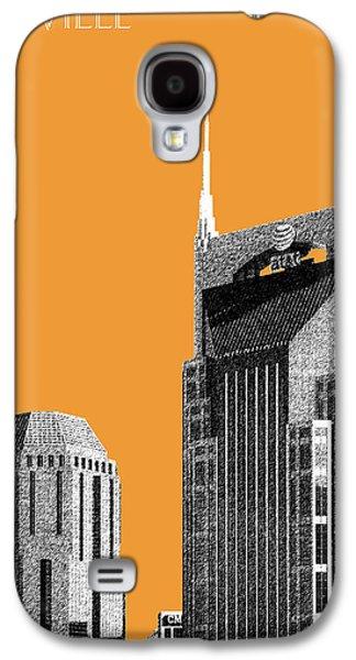 Nashville Skyline Galaxy S4 Case - Nashville Skyline At And T Batman Building - Orange by DB Artist