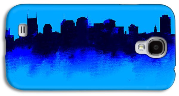Nashville  Skyline Blue  Galaxy S4 Case by Enki Art