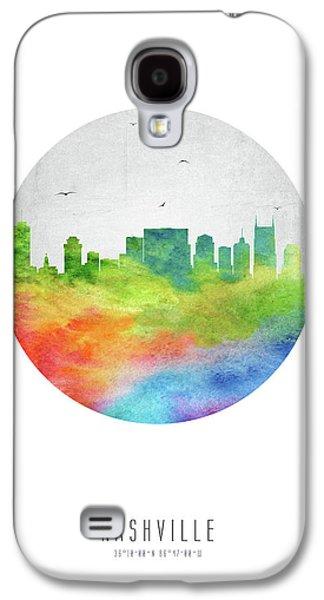 Nashville Skyline Ustnna20 Galaxy S4 Case by Aged Pixel