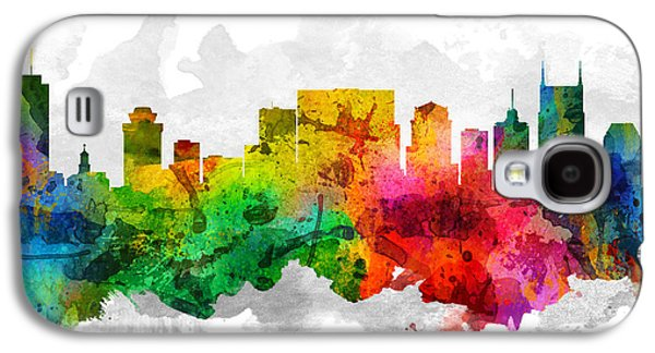 Nashville Tennessee Cityscape 12 Galaxy S4 Case by Aged Pixel