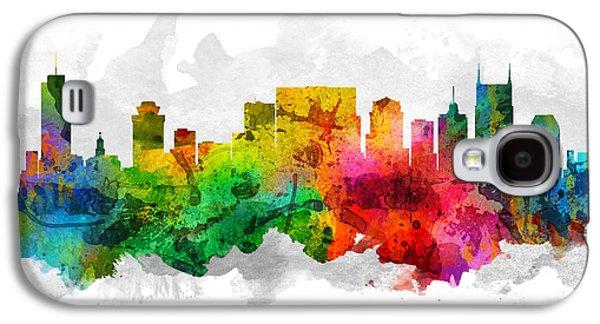 Nashville Skyline Galaxy S4 Case - Nashville Tennessee Cityscape 12 by Aged Pixel