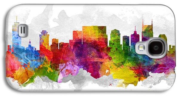 Nashville Skyline Galaxy S4 Case - Nashville Tennessee Cityscape 13 by Aged Pixel