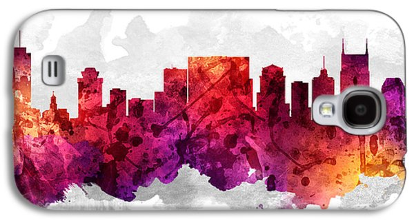Nashville Tennessee Cityscape 14 Galaxy S4 Case by Aged Pixel