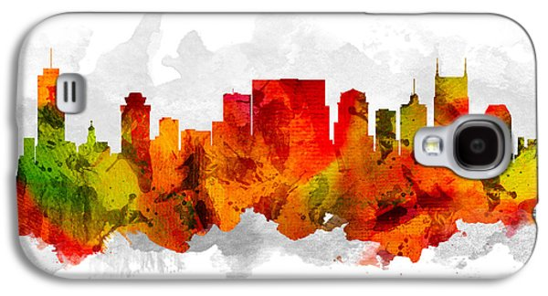 Nashville Skyline Galaxy S4 Case - Nashville Tennessee Cityscape 15 by Aged Pixel
