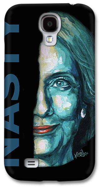 Nasty - Hillary Clinton Galaxy S4 Case by Konni Jensen