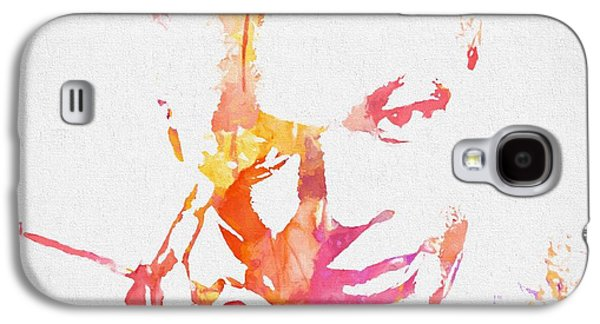 Nat King Cole Watercolor Galaxy S4 Case