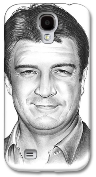 Nathan Fillion Galaxy S4 Case by Greg Joens