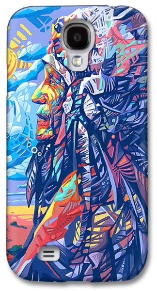 Native American Chief Galaxy S4 Case by Bekim Art