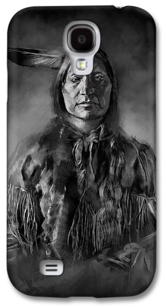 Native American Chief-scabby Bull Galaxy S4 Case by Bekim Art