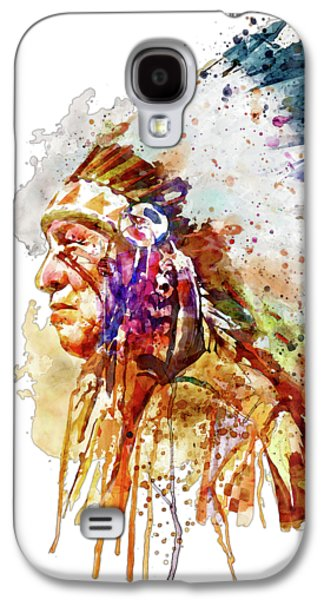Native American Chief Side Face Galaxy S4 Case by Marian Voicu
