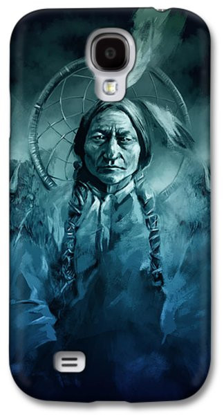 Native American Chief-sitting Bull Galaxy S4 Case by Bekim Art