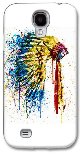Native American Feather Headdress   Galaxy S4 Case