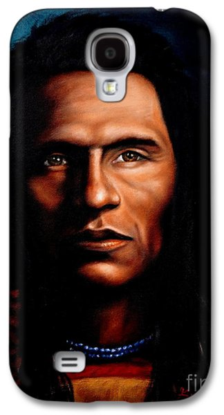 Native American Indian Soaring Eagle Galaxy S4 Case by Georgia's Art Brush