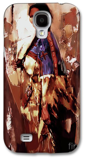 Native American Lady 03  Galaxy S4 Case