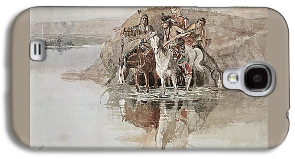 Native American War Party Galaxy S4 Case by Charles Marion Russell