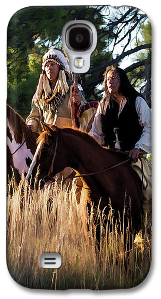 Native Americans On Horses In The Morning Light Galaxy S4 Case