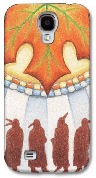 Native Autumn Galaxy S4 Case by Amy S Turner