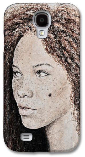 Natural Beauty With Red Hair Version II Galaxy S4 Case by Jim Fitzpatrick