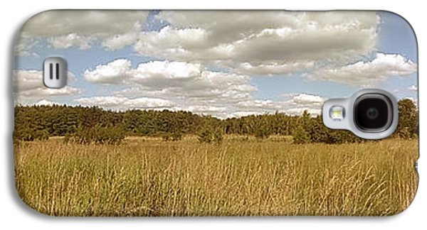 Sunny Galaxy S4 Case - Natural Meadow Landscape Panorama. by Arletta Cwalina