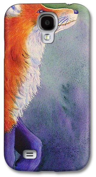 Fox Kit Paintings Galaxy S4 Cases - Natures Redhead Galaxy S4 Case by Tracy L Teeter
