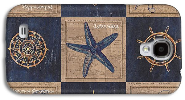 Nautical Burlap Galaxy S4 Case by Debbie DeWitt