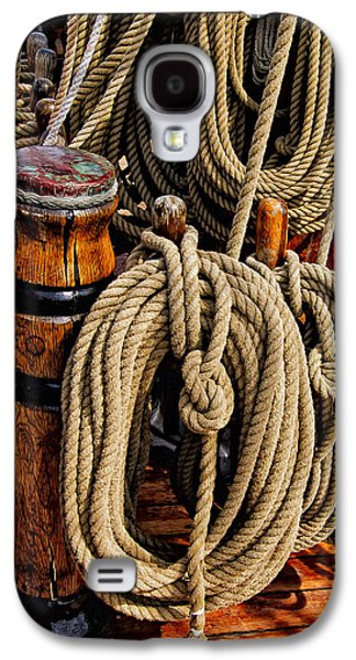Nautical Knots 17 Oil Galaxy S4 Case by Mark Myhaver