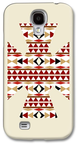 Navajo White Pattern Aged Galaxy S4 Case by Christina Rollo
