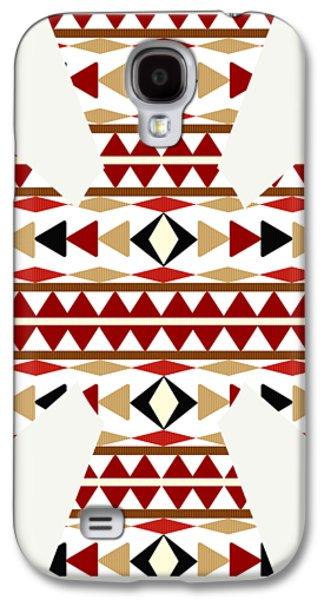Navajo White Pattern Art Galaxy S4 Case by Christina Rollo