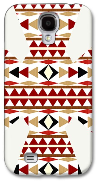 Navajo White Pattern Art Galaxy S4 Case by Christina Rollo