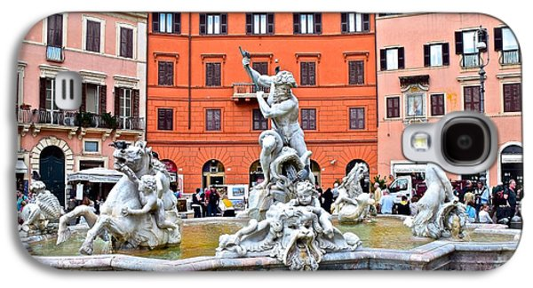 Navona Piazza Fountain Galaxy S4 Case