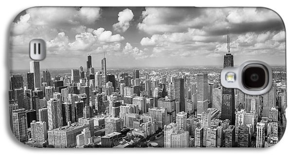 Galaxy S4 Case featuring the photograph Near North Side And Gold Coast Black And White by Adam Romanowicz