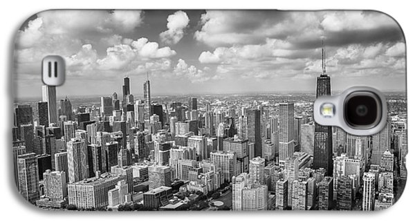 Hancock Building Galaxy S4 Case - Near North Side And Gold Coast Black And White by Adam Romanowicz