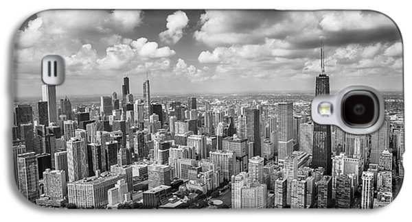 Near North Side And Gold Coast Black And White Galaxy S4 Case by Adam Romanowicz