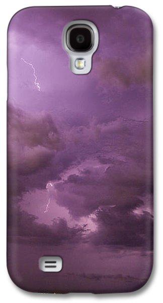 Nebraskasc Galaxy S4 Case - Nebraska Night Thunderstorm Beast 001 by NebraskaSC