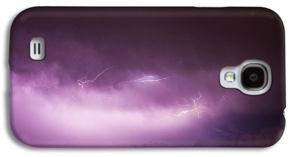 Nebraskasc Galaxy S4 Case - Nebraska Night Thunderstorms 013 by NebraskaSC
