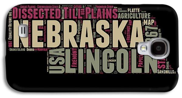 Nebraska Word Cloud 1 Galaxy S4 Case by Naxart Studio
