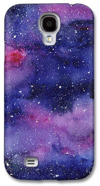 Constellations Galaxy S4 Case - Nebula Watercolor Galaxy by Olga Shvartsur