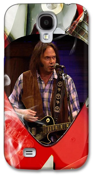 Neil Young Art Galaxy S4 Case by Marvin Blaine