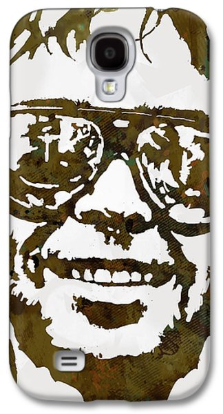 Neil Young Pop  Stylised Art Sketch Poster Galaxy S4 Case by Kim Wang