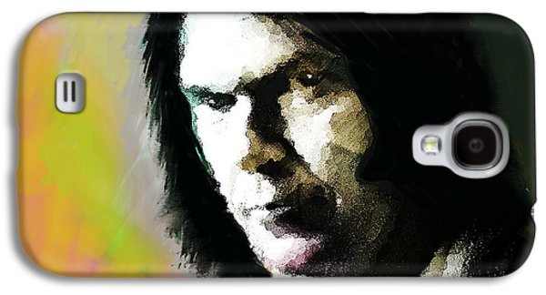 Neil Young Portrait  Galaxy S4 Case by Enki Art