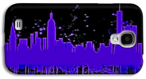 Neon New York City Skyline Galaxy S4 Case