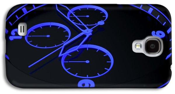 Neon Watch Face Galaxy S4 Case by Allan Swart