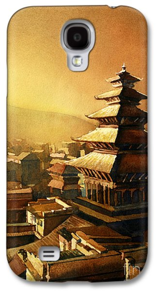 Temple Paintings Galaxy S4 Cases - Nepal Temple Galaxy S4 Case by Ryan Fox