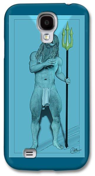 Newts Galaxy S4 Case - Blue Neptune by Quim Abella