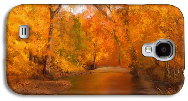 New England Autumn In The Woods Galaxy S4 Case by Becky Herrera