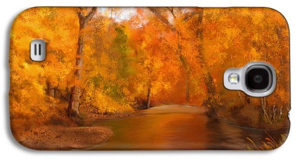 New England Autumn In The Woods Galaxy S4 Case