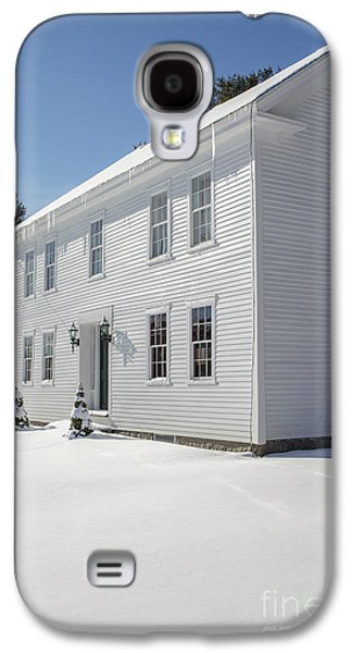 New England Colonial Home In Winter Galaxy S4 Case by Edward Fielding