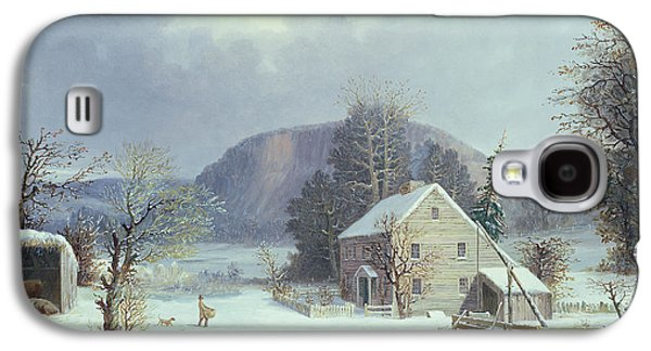 New England Farm By A Winter Road, 1854  Galaxy S4 Case