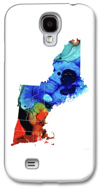 New England - Map By Sharon Cummings Galaxy S4 Case