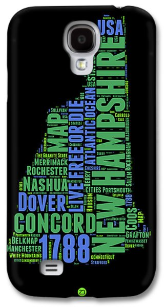 New Hampshire Word Cloud Map 1 Galaxy S4 Case by Naxart Studio